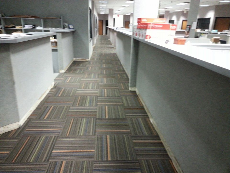 Commercial Carpet Installation - Carpet Tile Patterns - Valvano Carpeting Images