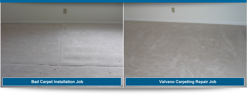 Before and After Carpet Repair and Installation - Valvano Carpeting Images