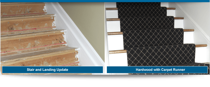 Before and After Carpet Stair Runner - Valvano Carpeting Images