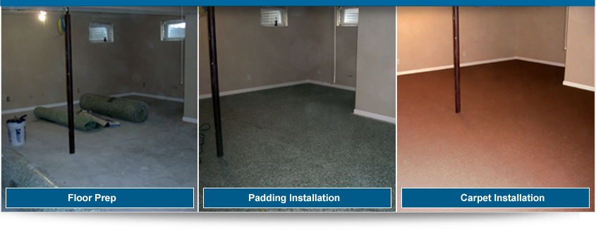 Before and After Basement Carpet Installation - Valvano Carpeting Images