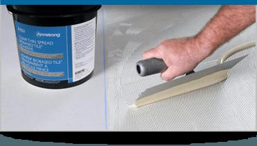 Vinyl Underlayment and Glue