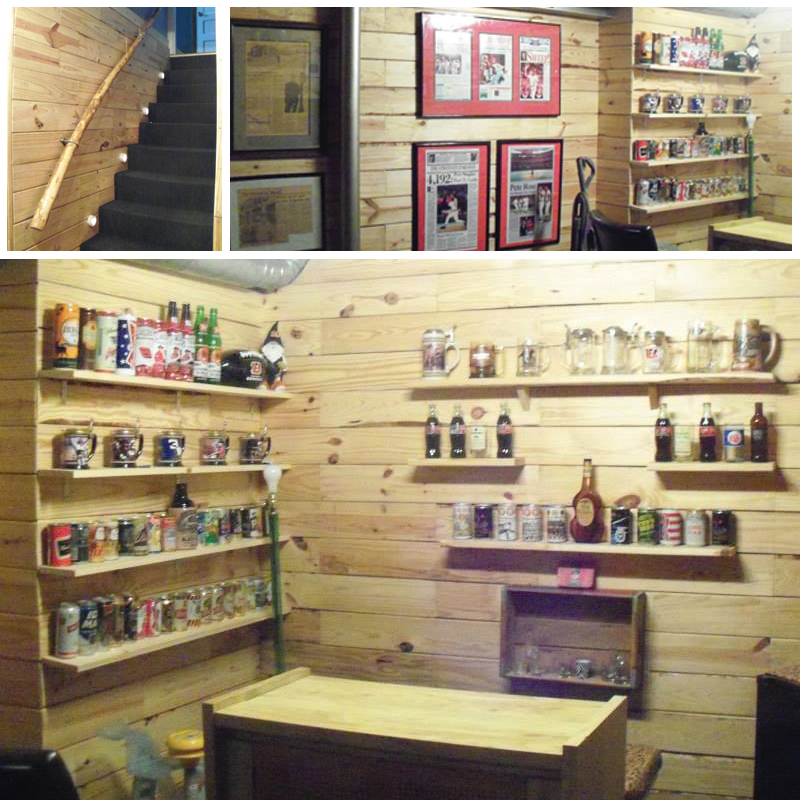 DIY Wooden Pallet Man Cave - Custom Made Bar